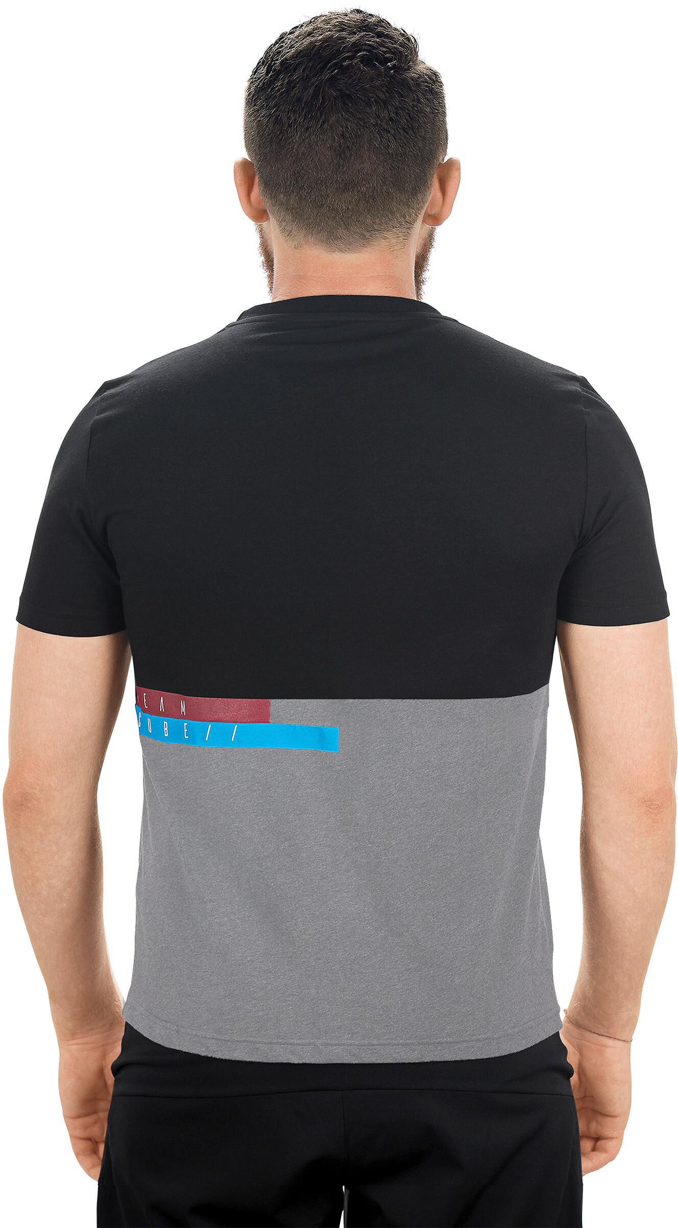 3831c9de Cube Team T-Skjorte Herre Grå/Svart | Gode tilbud hos bikester.no